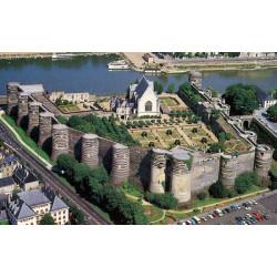 réduction sur vos entrées Château d'Angers vue du ciel