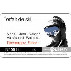 Skipass Carte rechargement Forfait Ski moins chère