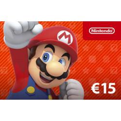 Réduction -5% Code Nintendo eShop carte Cadeau 15€